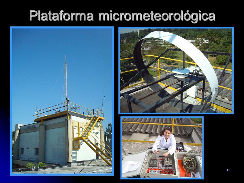 30 Plataforma micrometeorológica
