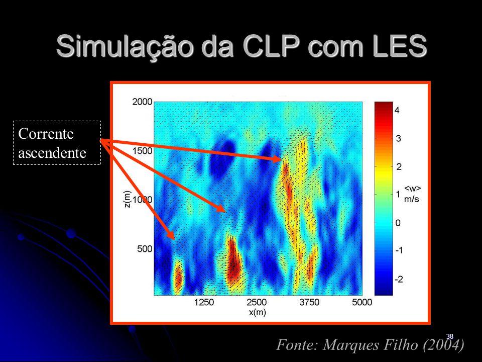 38 Simulação da CLP com LES Fonte: Marques Filho (2004) Corrente ascendente
