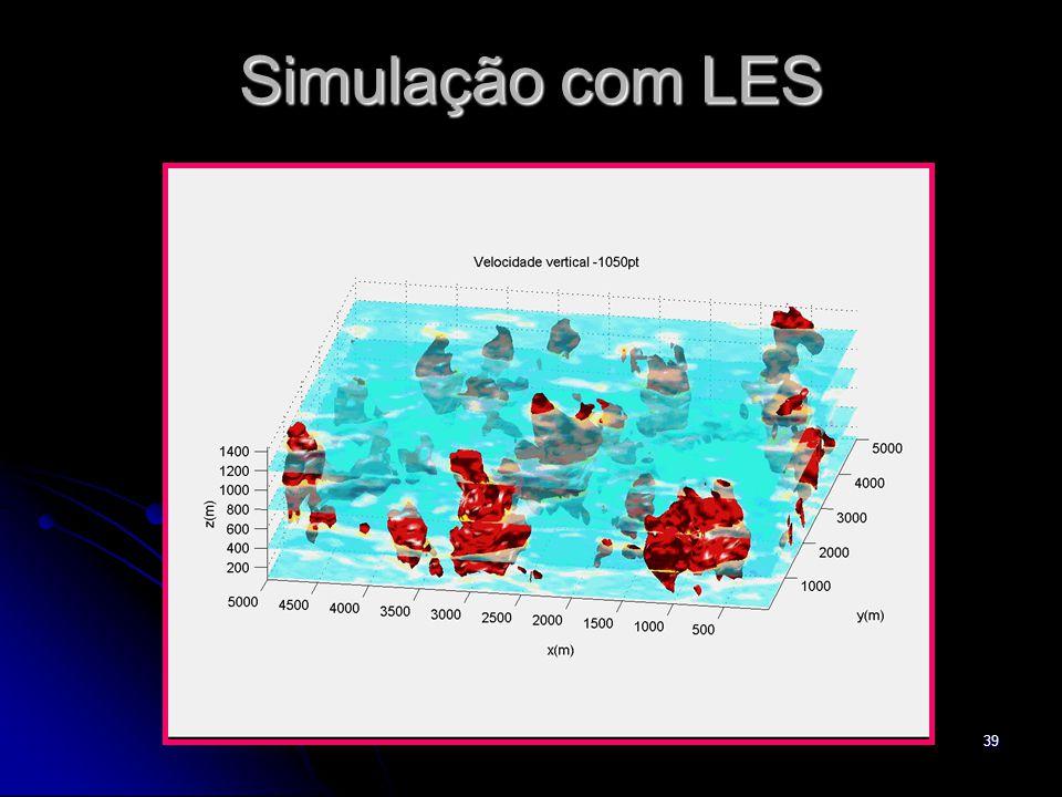 39 Simulação com LES