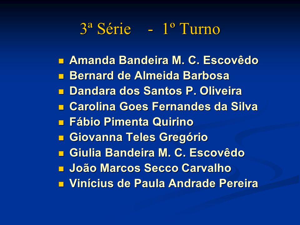 3ª Série - 1º Turno Amanda Bandeira M.C. Escovêdo Amanda Bandeira M.
