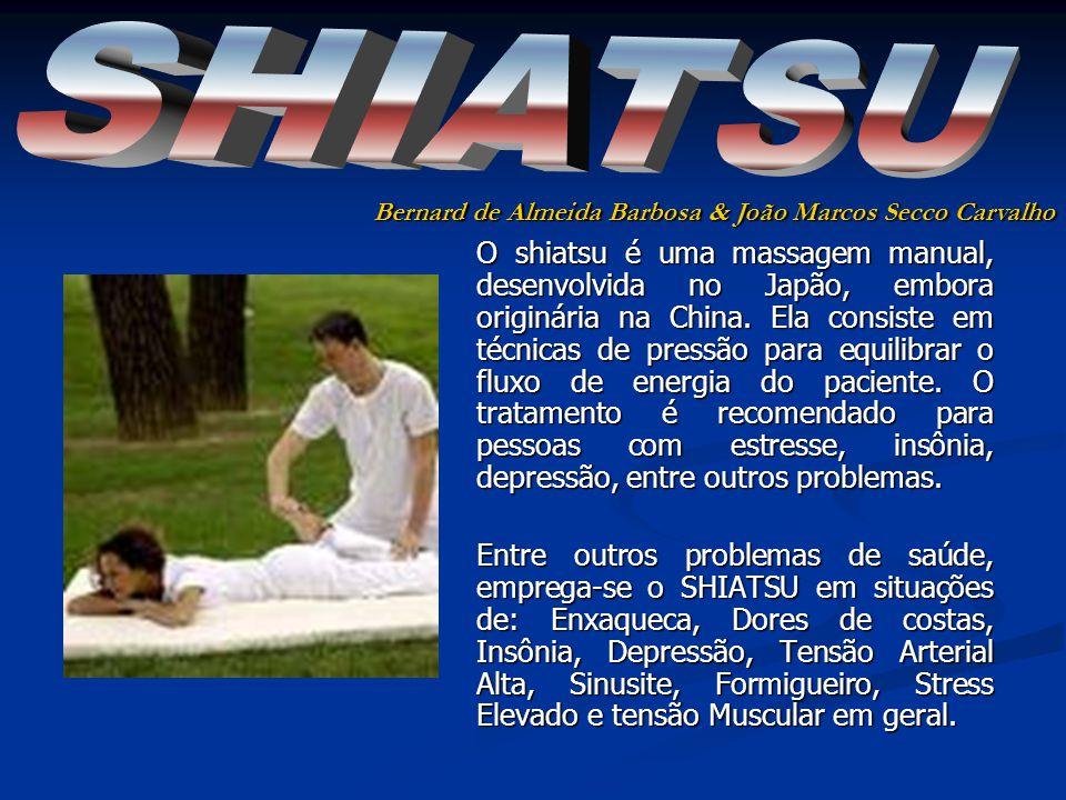 O shiatsu é uma massagem manual, desenvolvida no Japão, embora originária na China.