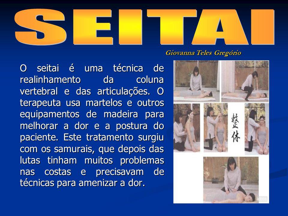 O seitai é uma técnica de realinhamento da coluna vertebral e das articulações.