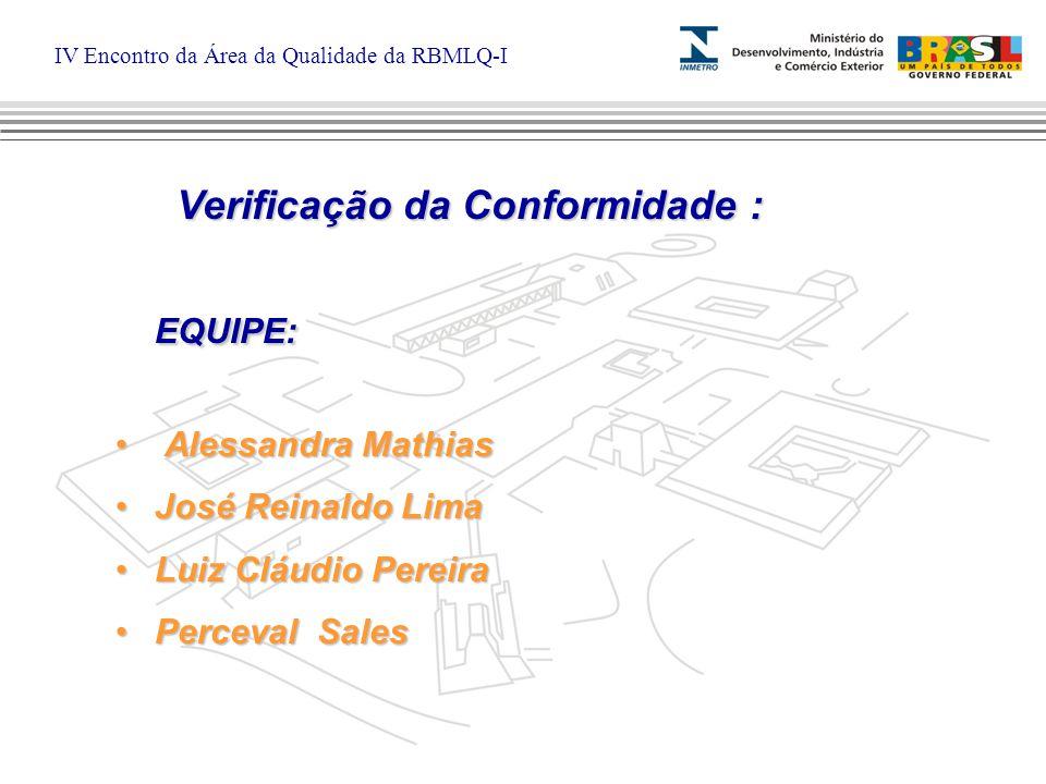 IV Encontro da Área da Qualidade da RBMLQ-I Fiscalização Inspeção técnica dos aspectos extrínsecos (formais) do produto RBMLQ-Inmetro : Agentes Fiscais Verificação da Conformidade Inspeção técnica dos aspectos intrínsecos do produto