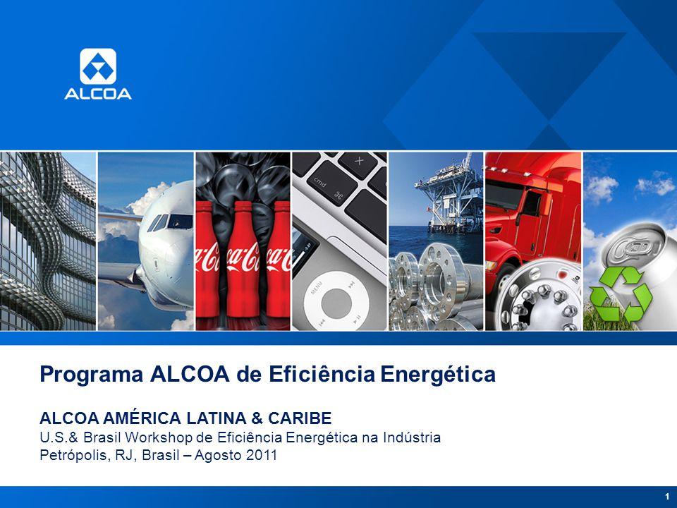 1 Programa ALCOA de Eficiência Energética ALCOA AMÉRICA LATINA & CARIBE U.S.& Brasil Workshop de Eficiência Energética na Indústria Petrópolis, RJ, Br