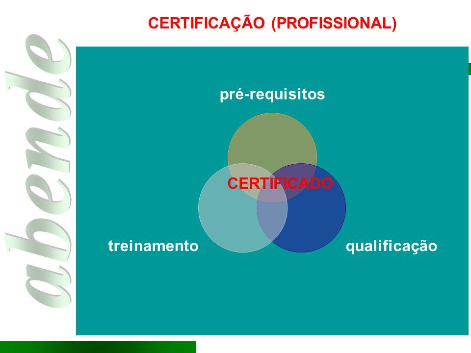 CERTIFICADO CERTIFICAÇÃO (PROFISSIONAL)