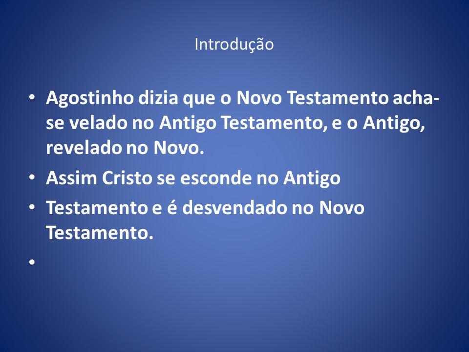 Introdução Agostinho dizia que o Novo Testamento acha- se velado no Antigo Testamento, e o Antigo, revelado no Novo.