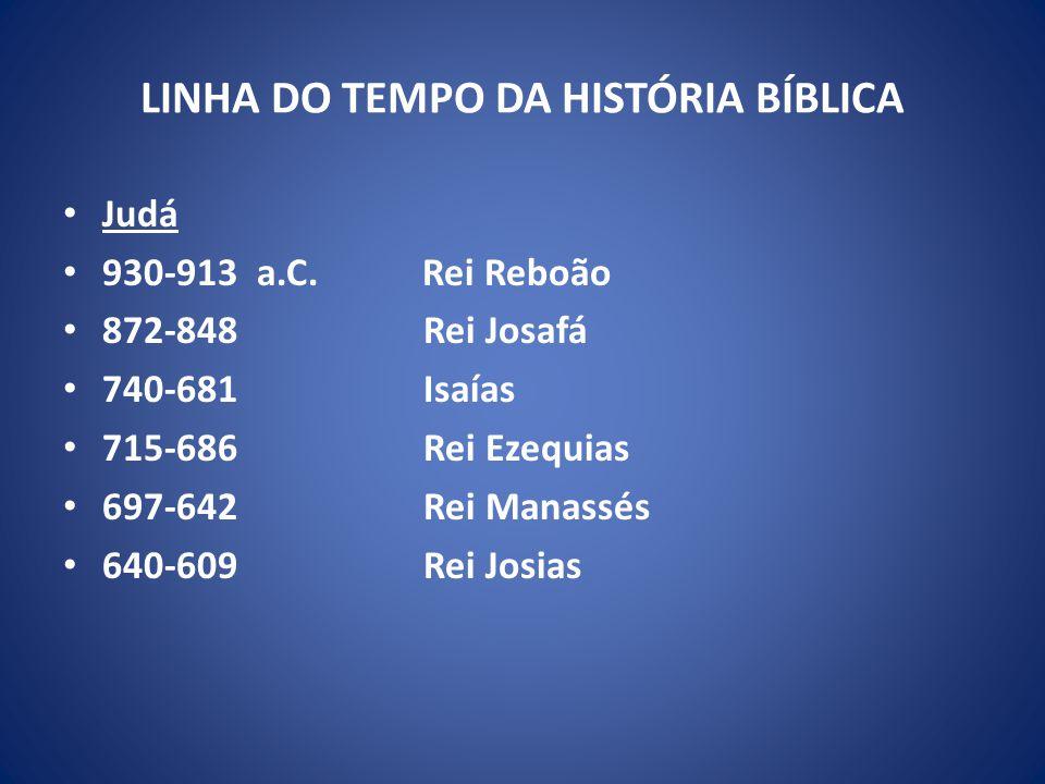 LINHA DO TEMPO DA HISTÓRIA BÍBLICA Judá 930-913 a.C.