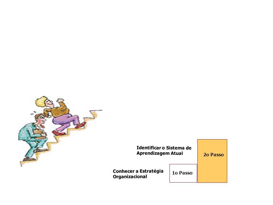 Conhecer a Estratégia Organizacional 1o Passo Identificar o Sistema de Aprendizagem Atual 2o Passo