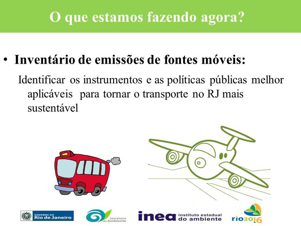 O que estamos fazendo agora? Inventário de emissões de fontes móveis: Identificar os instrumentos e as políticas públicas melhor aplicáveis para torna