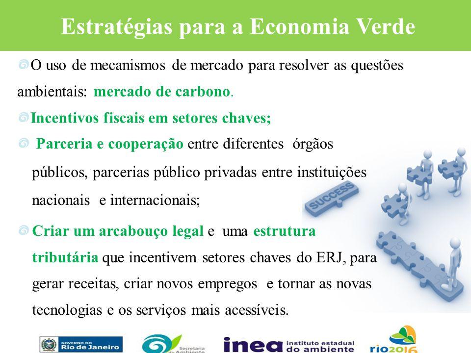 Estratégias para a Economia Verde Parceria e cooperação entre diferentes órgãos públicos, parcerias público privadas entre instituições nacionais e in