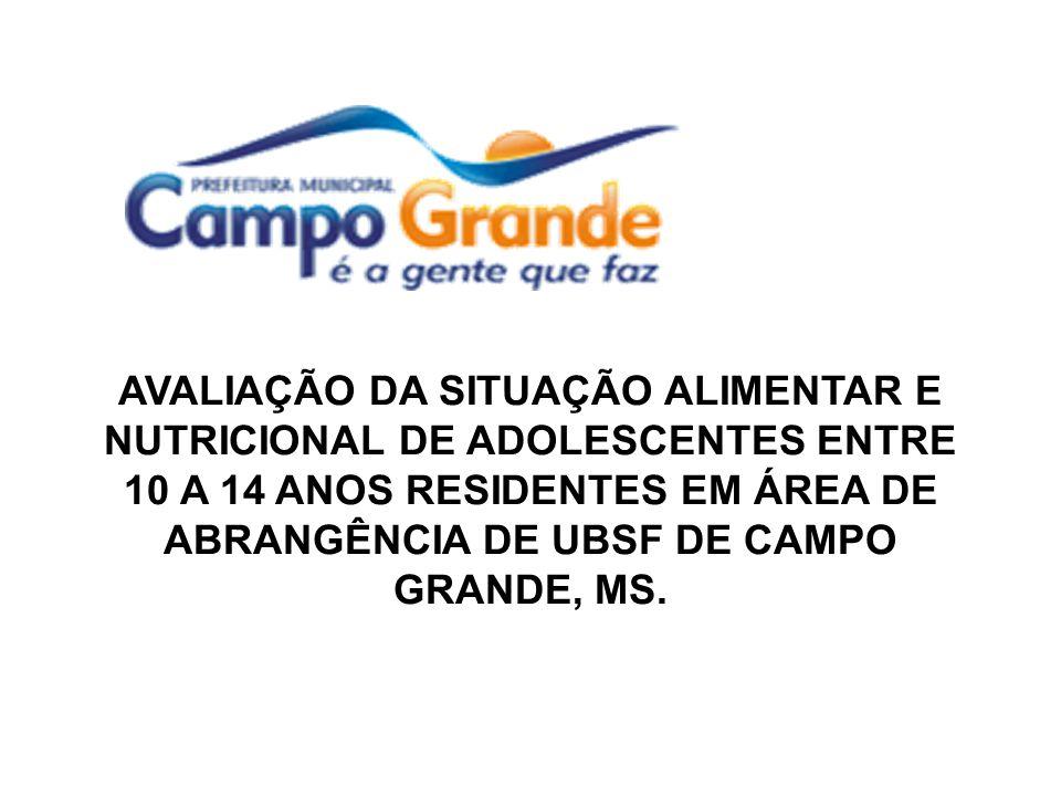 AVALIAÇÃO DA SITUAÇÃO ALIMENTAR E NUTRICIONAL DE ADOLESCENTES ENTRE 10 A 14 ANOS RESIDENTES EM ÁREA DE ABRANGÊNCIA DE UBSF DE CAMPO GRANDE, MS.