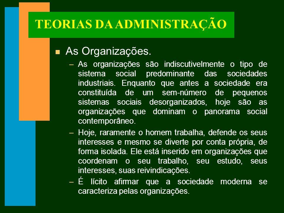 TEORIAS DA ADMINISTRAÇÃO n Sistemas Racionais.