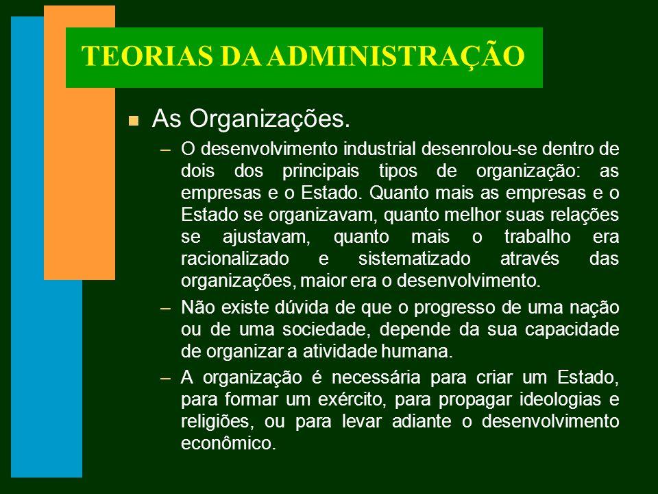 TEORIAS DA ADMINISTRAÇÃO n Ato Racional.