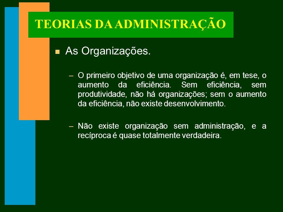 TEORIAS DA ADMINISTRAÇÃO n A burocracia e as normas.