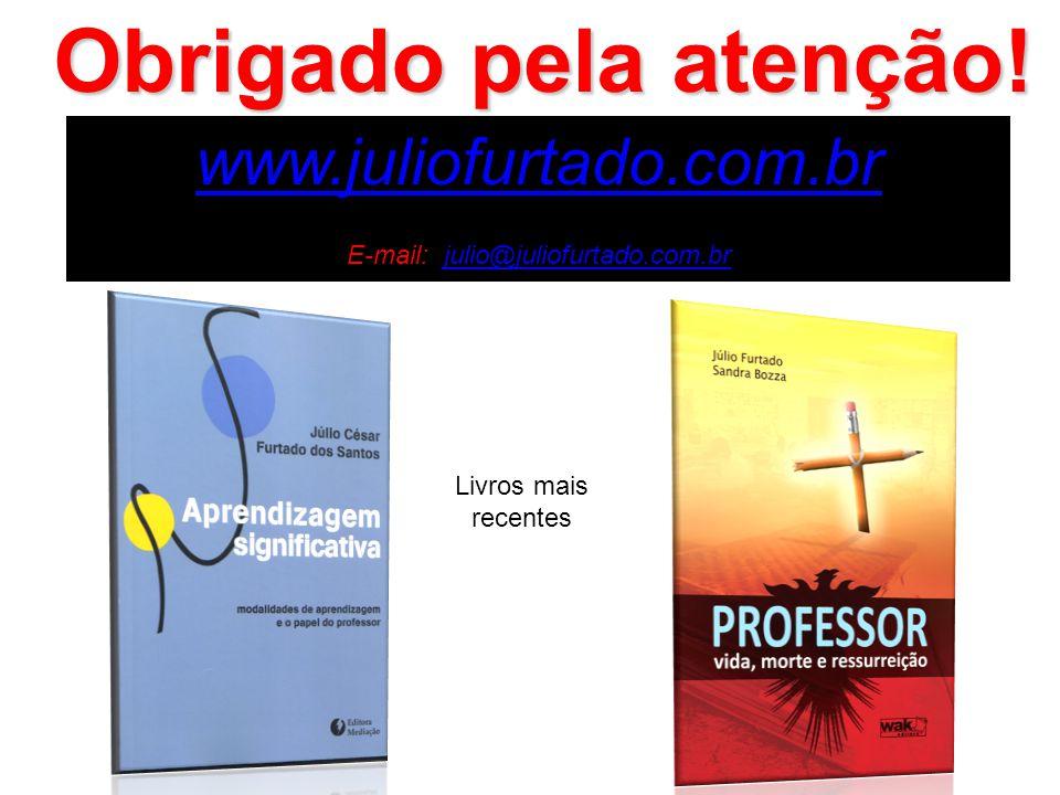 www.juliofurtado.com.br E-mail: julio@juliofurtado.com.brjulio@juliofurtado.com.br Obrigado pela atenção! Livros mais recentes
