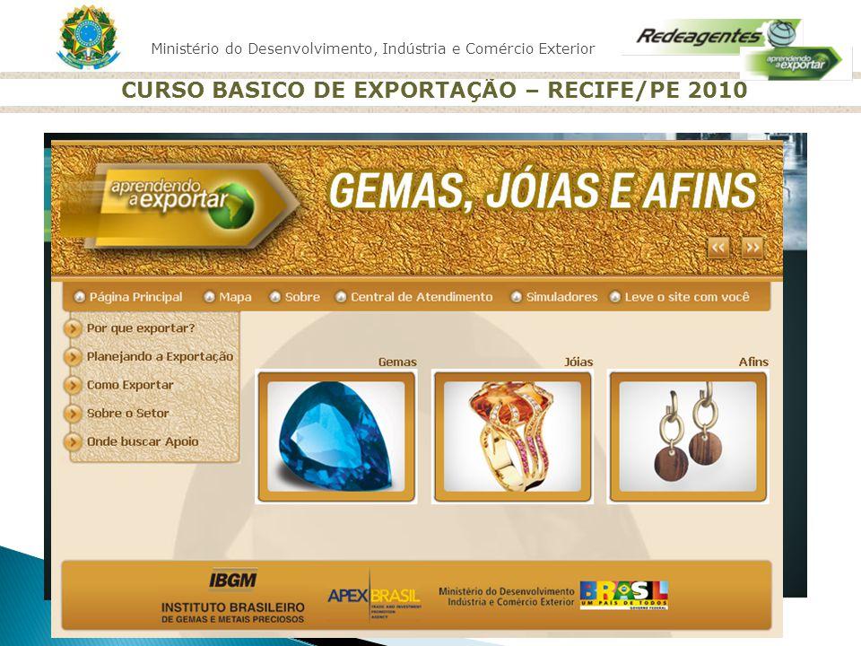 CURSO BASICO DE EXPORTAÇÃO – RECIFE/PE 2010