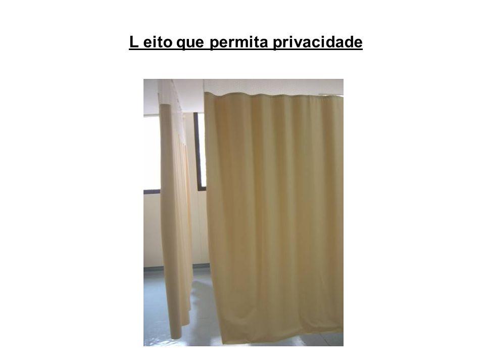 L eito que permita privacidade