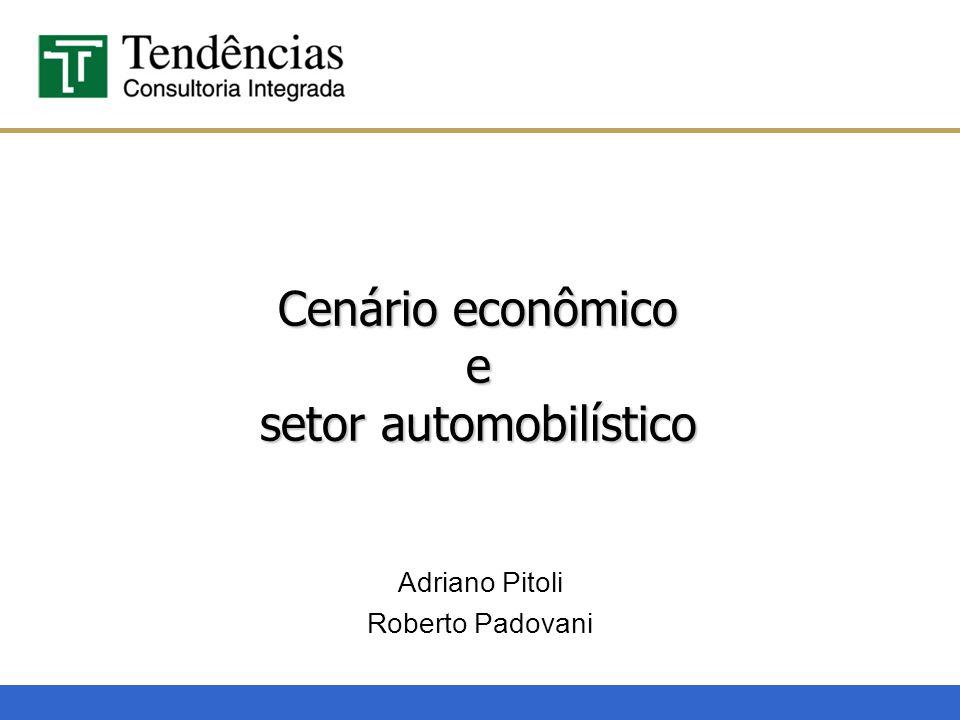 Cenário econômico e setor automobilístico Adriano Pitoli Roberto Padovani