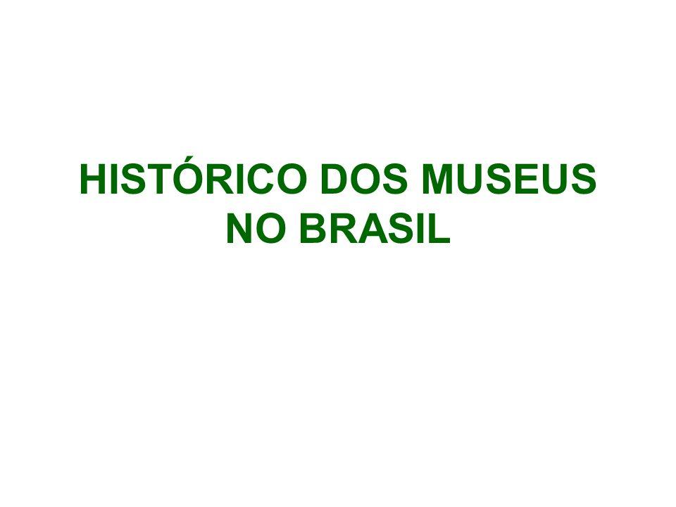HISTÓRICO DOS MUSEUS NO BRASIL