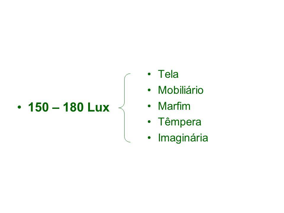 150 – 180 Lux Tela Mobiliário Marfim Têmpera Imaginária
