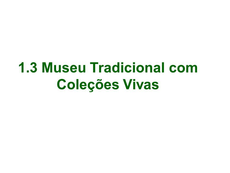 1.3 Museu Tradicional com Coleções Vivas