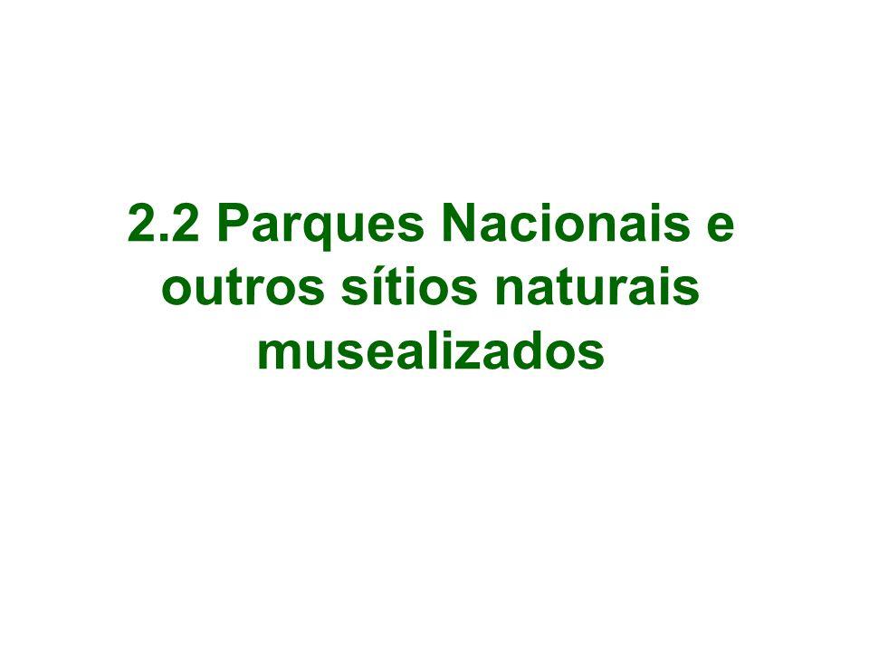 2.2 Parques Nacionais e outros sítios naturais musealizados
