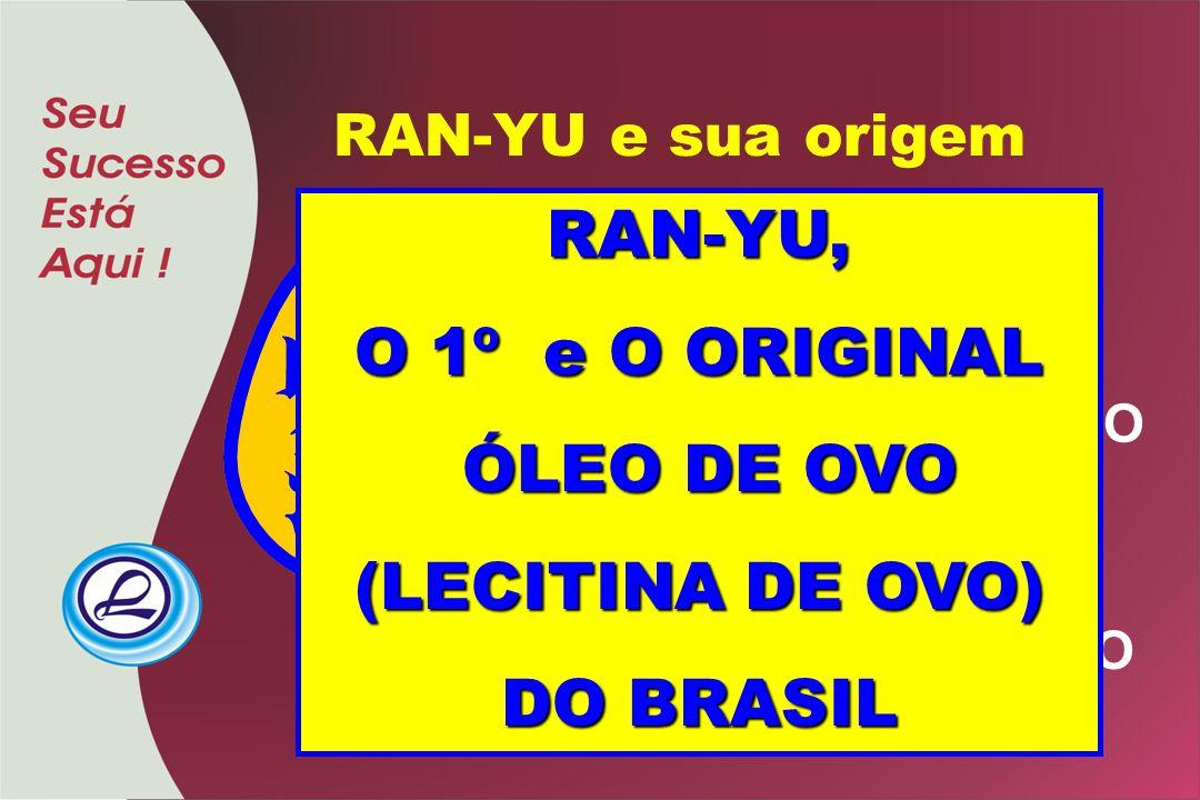 RAN-YU e sua origem = RAN = TAMAGÔ = OVO = YU = ABURÁ = ÓLEO RAN-YU, O 1º e O ORIGINAL ÓLEO DE OVO ÓLEO DE OVO (LECITINA DE OVO) DO BRASIL