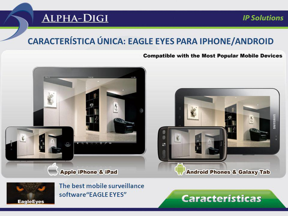 CARACTERÍSTICA ÚNICA: EAGLE EYES PARA IPHONE/ANDROID The best mobile surveillance softwareEAGLE EYES