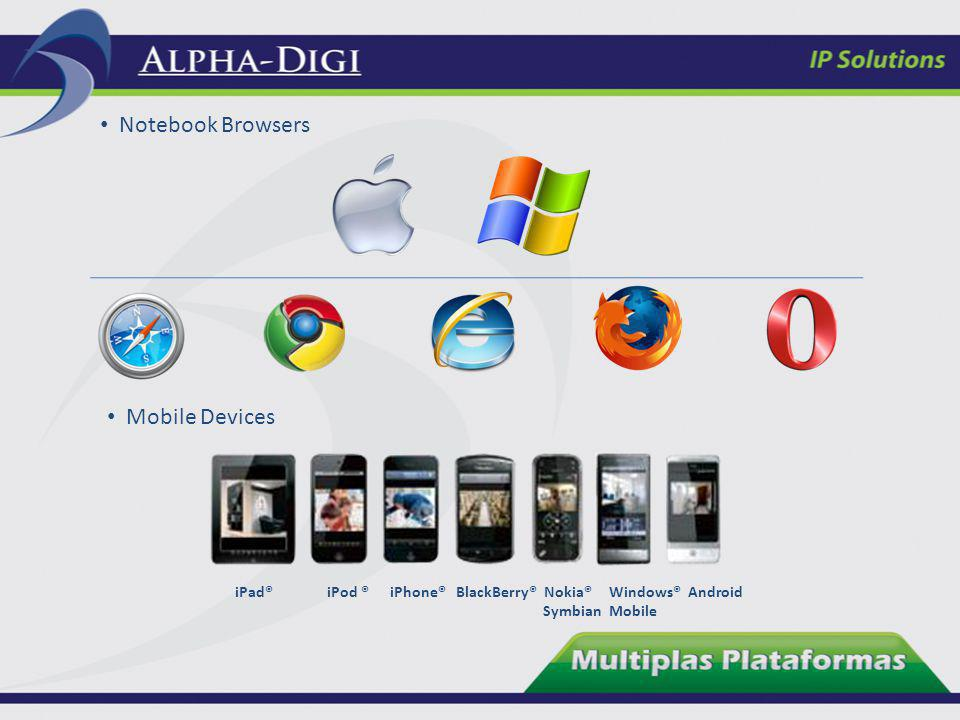 Notebook Browsers Mobile Devices iPad® iPod ® iPhone® BlackBerry® Nokia® Windows® Android Symbian Mobile