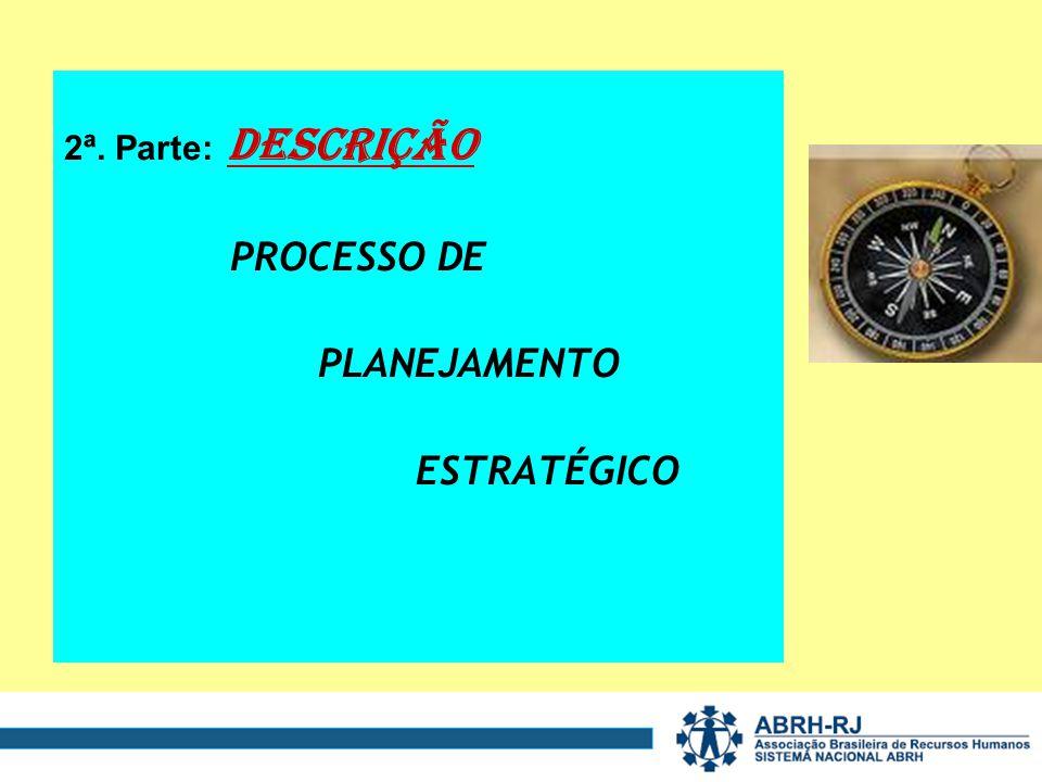 2ª. Parte: DESCRIÇÃO PROCESSO DE PLANEJAMENTO ESTRATÉGICO