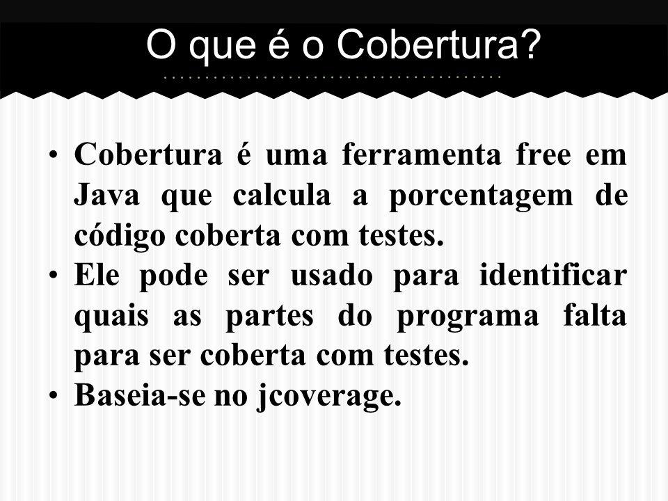 As versões em formato MAVEN se encontram no seguinte diretório: http://cobertura.sourceforge.net/index.html Repositório Versão 1.0http://subversion.assembla.com/svn/verificacao-e-validacao/cobertura-1.0/ Versão 1.5http://subversion.assembla.com/svn/verificacao-e-validacao/cobertura-1.5/ Versão 1.9.4.1http://subversion.assembla.com/svn/verificacao-e-validacao/cobertura-1.9.4.1/