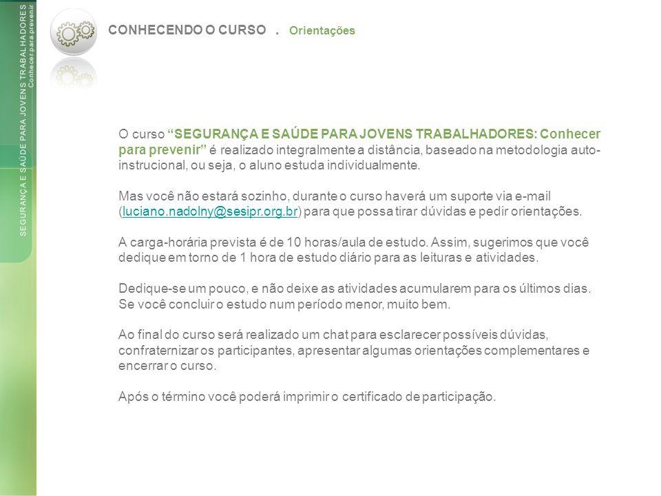 CONHECENDO O CURSO.