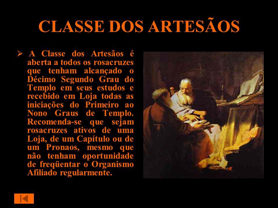 O objetivo da Classe dos Artesãos é levar os rosacruzes que dela façam parte a refletir em conjunto sobre os aspectos teóricos e práticos dos ensinamentos de nossa Ordem.
