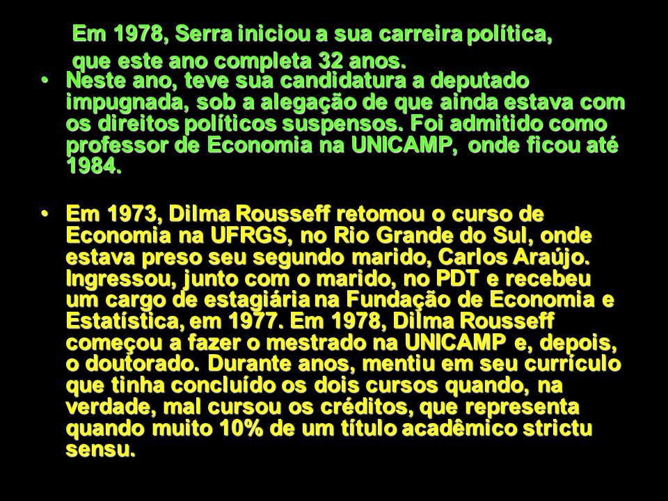 Serra permaneceu 10 anos longe do Brasil. Retornou em 1977, dois anos antes da Lei da Anistia, sendo um dos únicos que voltou sem nenhuma garantia de