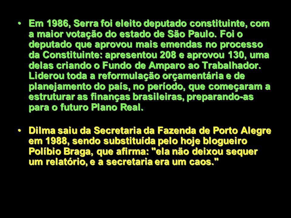 Em 1983, Serra iniciou, efetivamente, a sua carreira como gestor, assumindo a Secretária de Planejamento do Estado de São Paulo.Em 1983, Serra iniciou