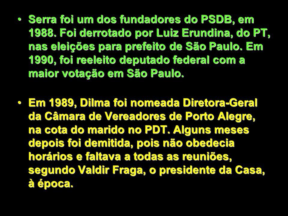 Em 1986, Serra foi eleito deputado constituinte, com a maior votação do estado de São Paulo. Foi o deputado que aprovou mais emendas no processo da Co