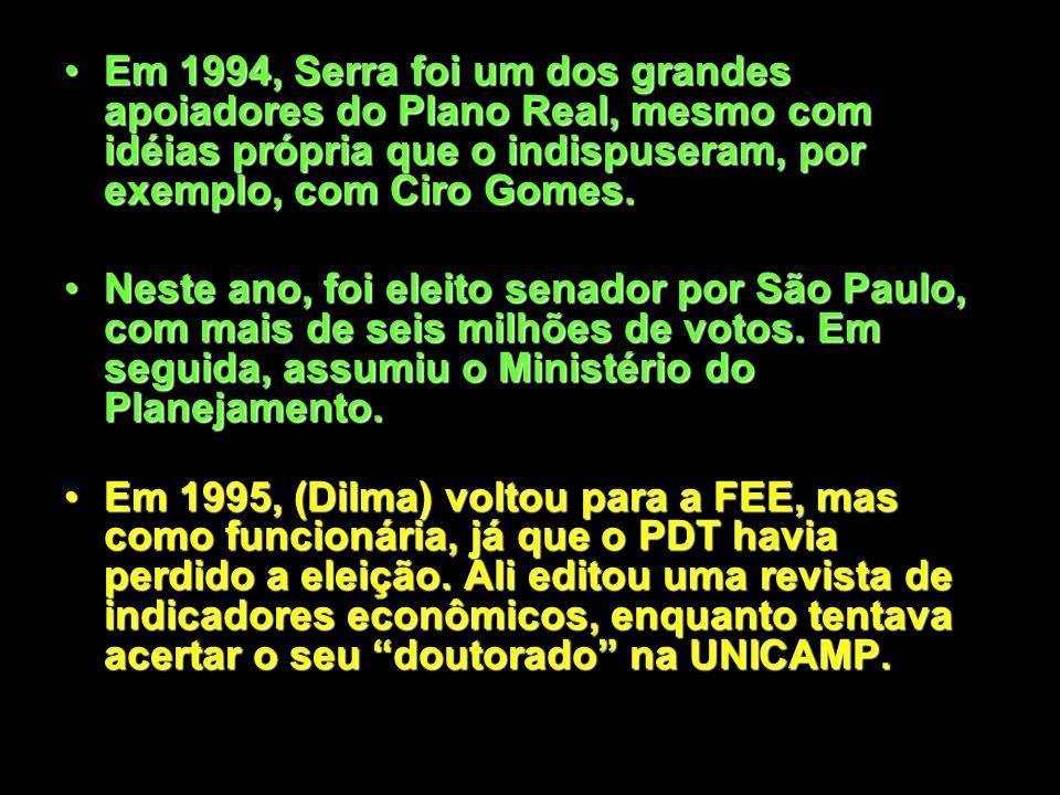 Serra foi um dos fundadores do PSDB, em 1988.