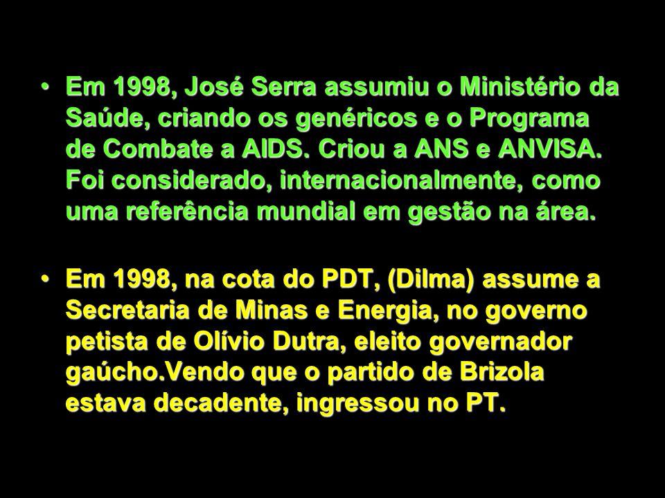 Em 1994, Serra foi um dos grandes apoiadores do Plano Real, mesmo com idéias própria que o indispuseram, por exemplo, com Ciro Gomes.Em 1994, Serra fo