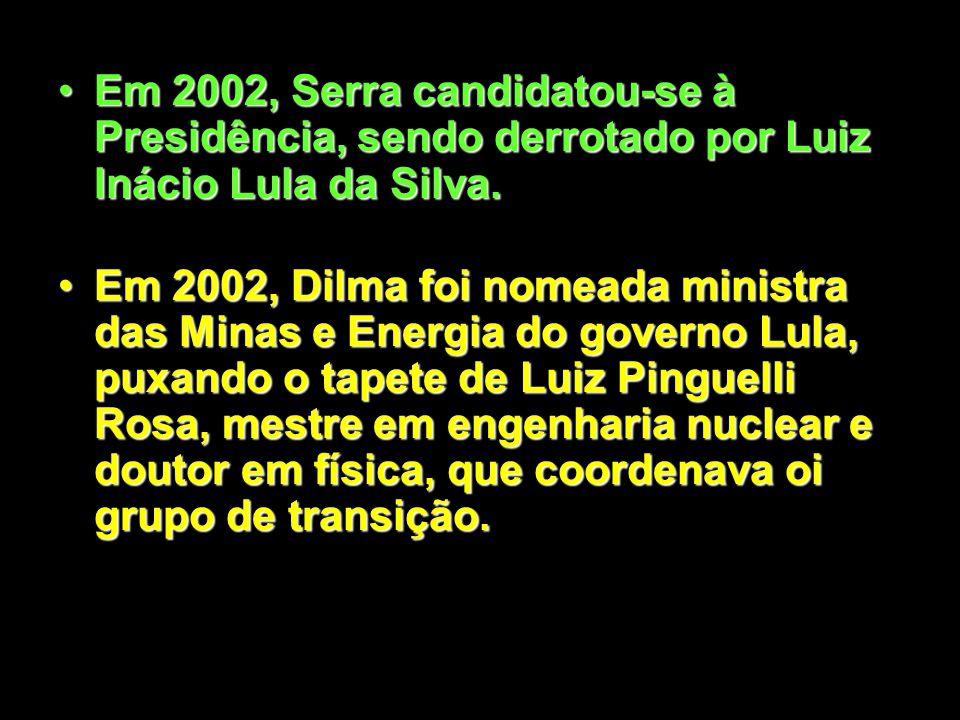 Em 1998, José Serra assumiu o Ministério da Saúde, criando os genéricos e o Programa de Combate a AIDS. Criou a ANS e ANVISA. Foi considerado, interna