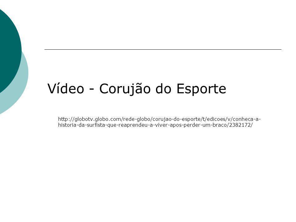 Vídeo - Corujão do Esporte http://globotv.globo.com/rede-globo/corujao-do-esporte/t/edicoes/v/conheca-a- historia-da-surfista-que-reaprendeu-a-viver-a