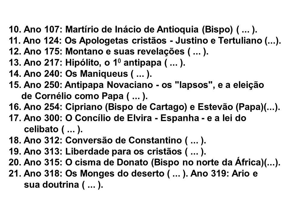10.Ano 107: Martírio de Inácio de Antioquia (Bispo) (...