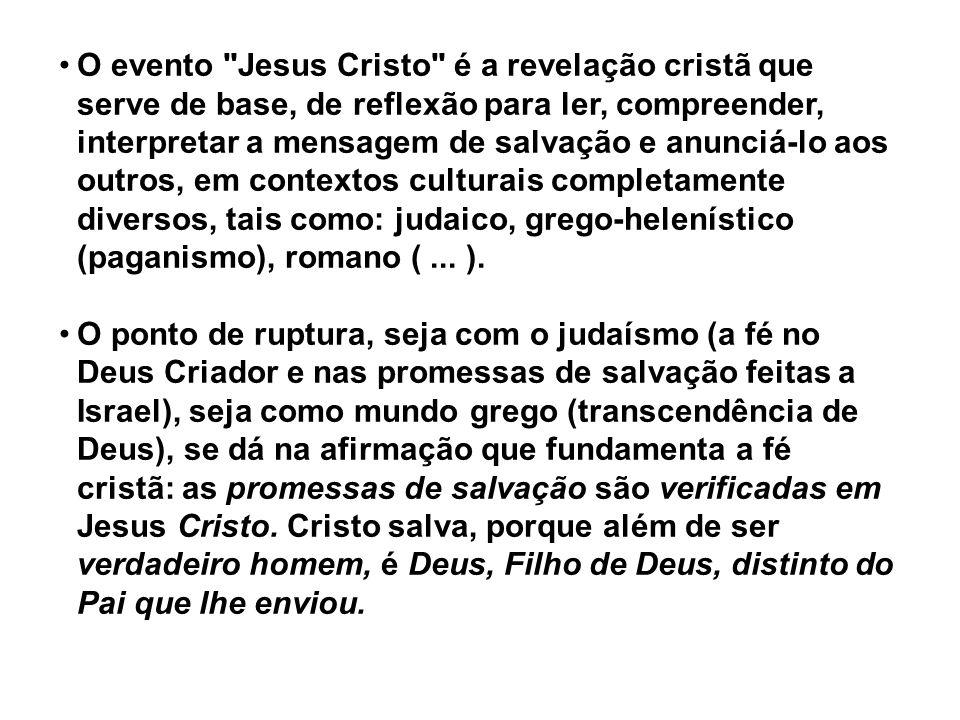 Portanto, a reflexão sobre a fé parte dos seguintes princípios: a) da ideia de salvação trazida por Cristo (SOTERIOLOGIA); b) de interrogações sobre a sua pessoa, tais como: Quem é Jesus Cristo.