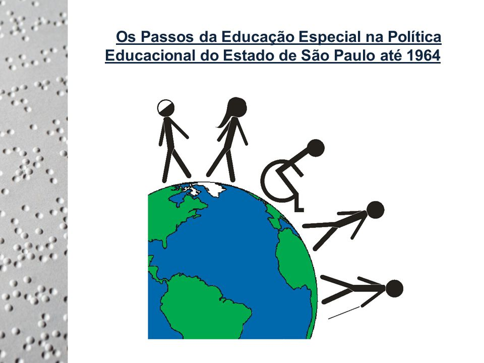 De 1933 a 1964: Inspirado pelo Manifesto dos Pioneiros da Educação Nova Sobre a Reconstrução Educacional do Brasil, de 1932, surge o Código de Educação do Estado de São Paulo (instituído pelo Decreto nº 5.882, de 21 de abril de 1933), que inclui a educação especializada, com nove tipos de escolas autônomas especializadas como modalidades para a educação de deficientes físicos e mentais, e a educação especializada nos grupos escolares, através de classes especiais.