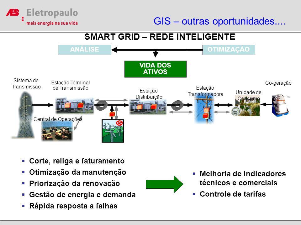 SMART GRID – REDE INTELIGENTE Sistema de Transmissão Estação Terminal de Transmissão Estação Distribuição Estação Transformadora Unidade de Consumo Ce