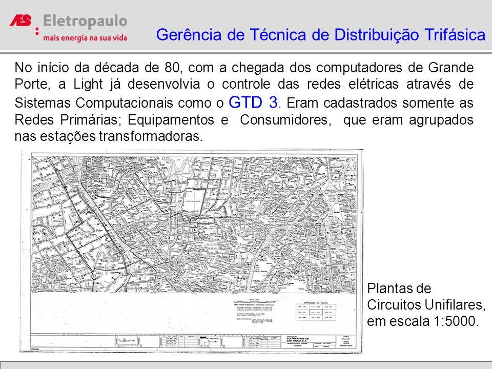 Plantas Primarias em Cronaflex com 8 Km² de área cada Plantas Secundárias em Cronaflex com 0,25 Km² cada GRADE O sistema GRADE substituiu o GTD3, através de um Sistema TABULAR em 1986.