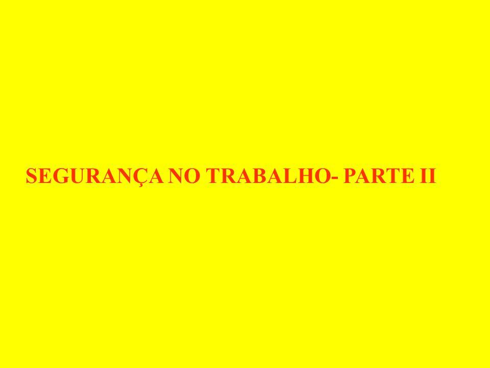SEGURANÇA NO TRABALHO- PARTE II