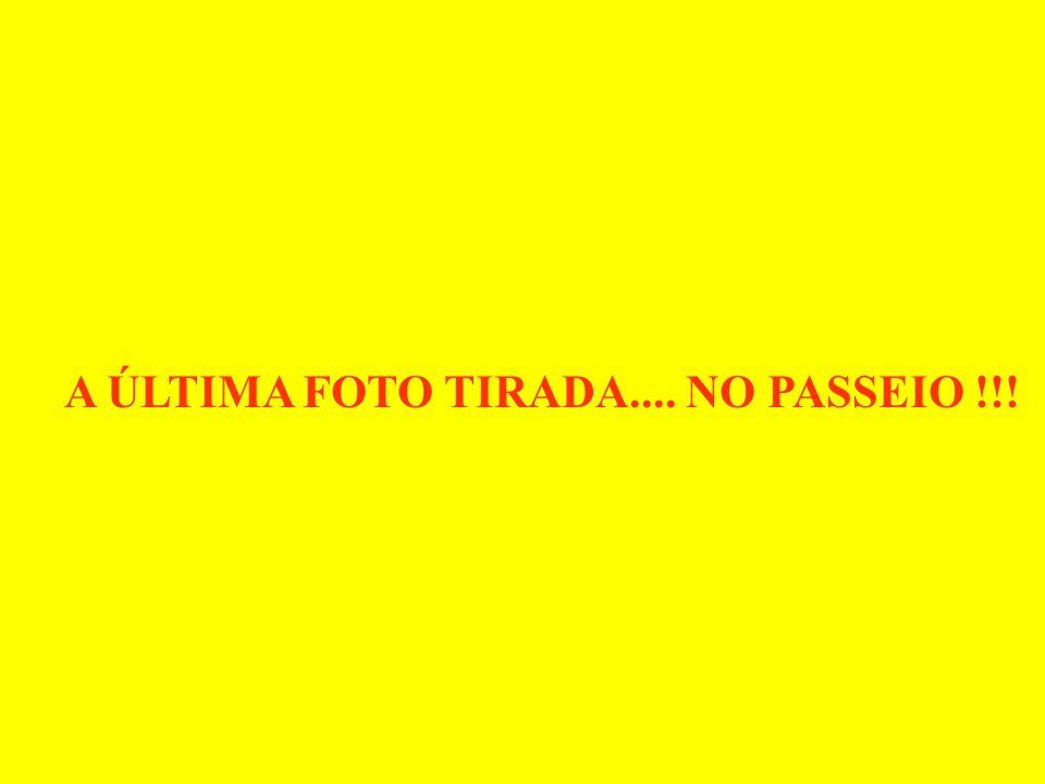 A ÚLTIMA FOTO TIRADA.... NO PASSEIO !!!