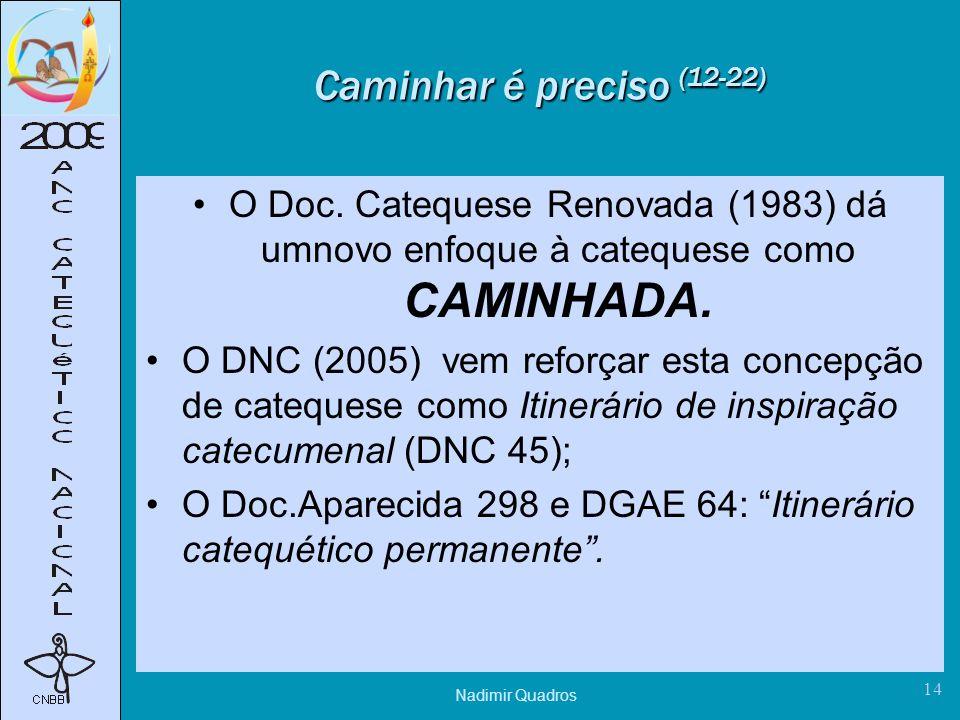 Nadimir Quadros 14 Caminhar é preciso (12-22) O Doc.