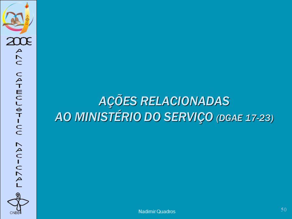 Nadimir Quadros 50 AÇÕES RELACIONADAS AO MINISTÉRIO DO SERVIÇO (DGAE 17-23)