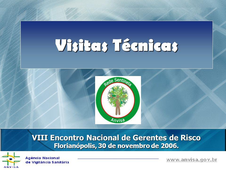 VIII Encontro Nacional de Gerentes de Risco Florianópolis, 30 de novembro de 2006. Visitas Técnicas